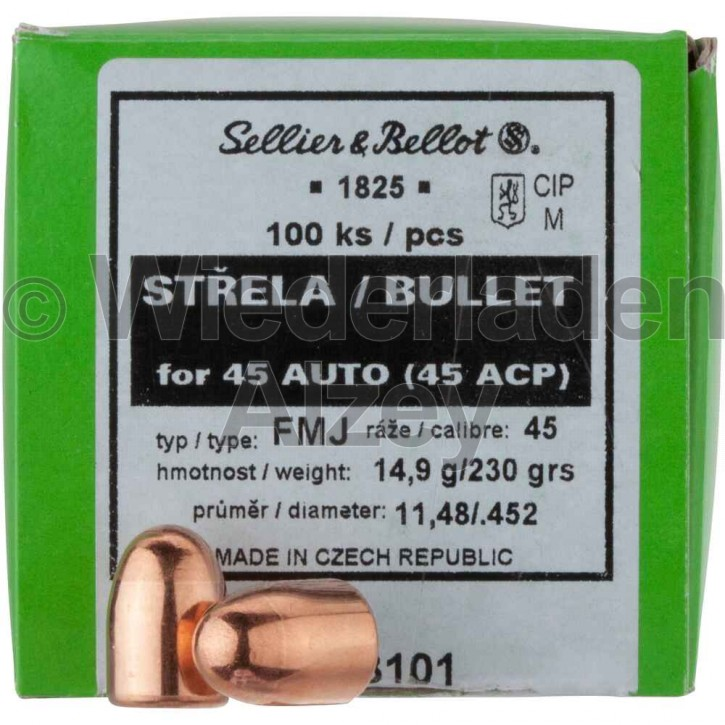 .452, 230 grain, S & B Geschosse, Vollmantel, Art.-Nr.: 103101