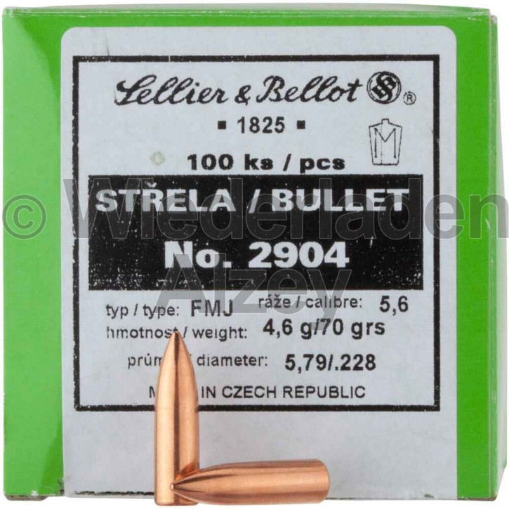 .228, 71 grain, S & B Geschosse, Vollmantel, Art.-Nr.: 2904