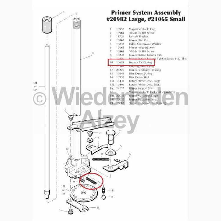 Dillon XL 650 / XL 750, Positionsstößelfeder (Indexing Arm Spring), Art.Nr.: 13624