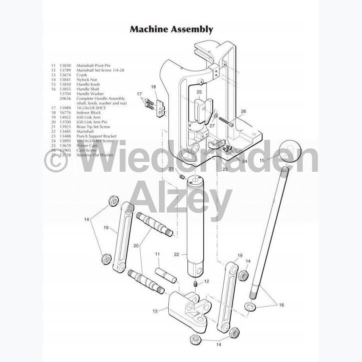 Dillon XL 650 / XL 750, Hebelübersetzer (Crank), Art.Nr.: 13674