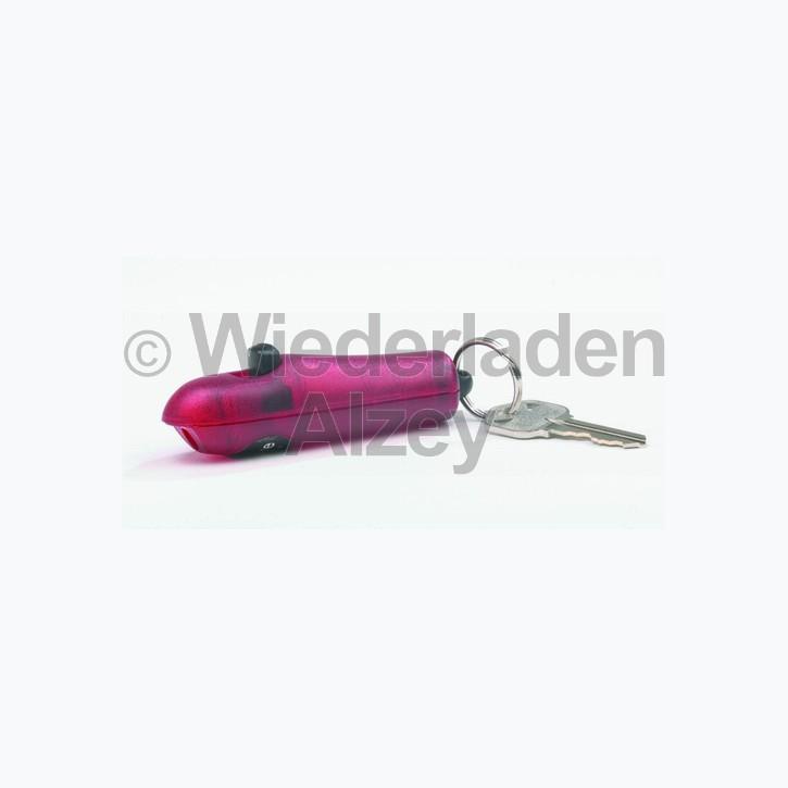 Sabre Red, kleines, kompaktes Pfefferspray, 4,5 Gramm Inhalt, für den Schlüsselanhänger m. Wechselkartusche, rot, Art.-Nr.: 201SFRDDE
