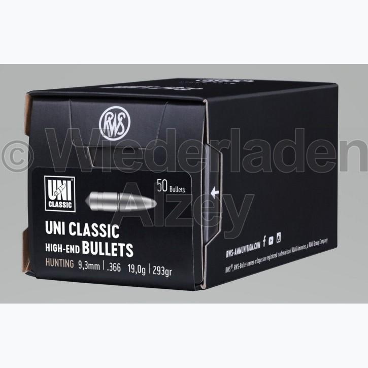 RWS Geschosse, .366, 293 grain, 19,0 g, UNI-Classic