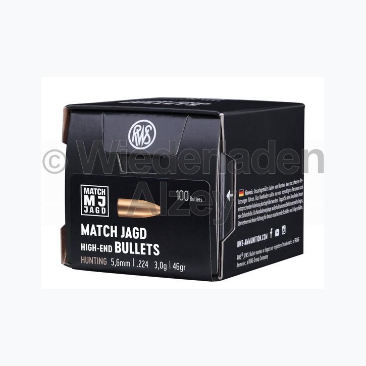 RWS Geschosse, .224, 46 grain, 3,0 g, Match-Jagd / Scheibengeschoss (100er Pack in neutraler Verpackung)