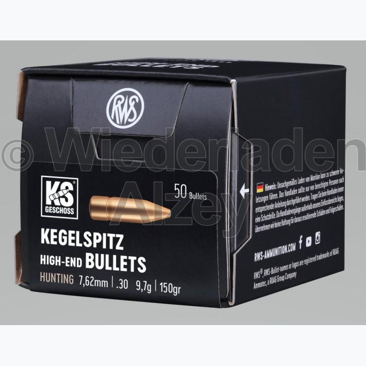RWS Geschosse, .308, 150 grain, 9,7 g, Kegelspitz