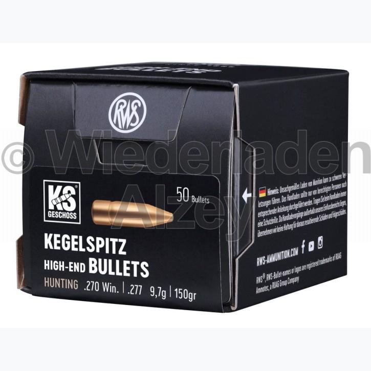 RWS Geschosse, .277, 150 grain, 9,7 g, Kegelspitz