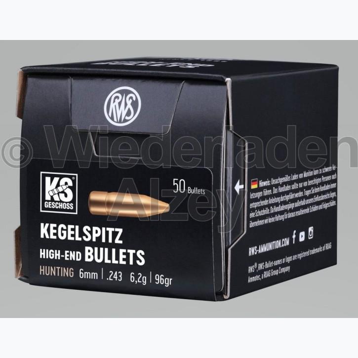 RWS Geschosse, .243,  96 grain, 6,2 g, Kegelspitz