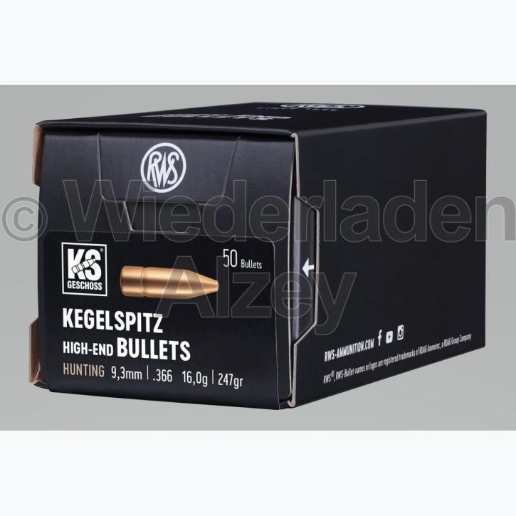 RWS Geschosse, .366, 247 grain,16,0 g, Kegelspitz
