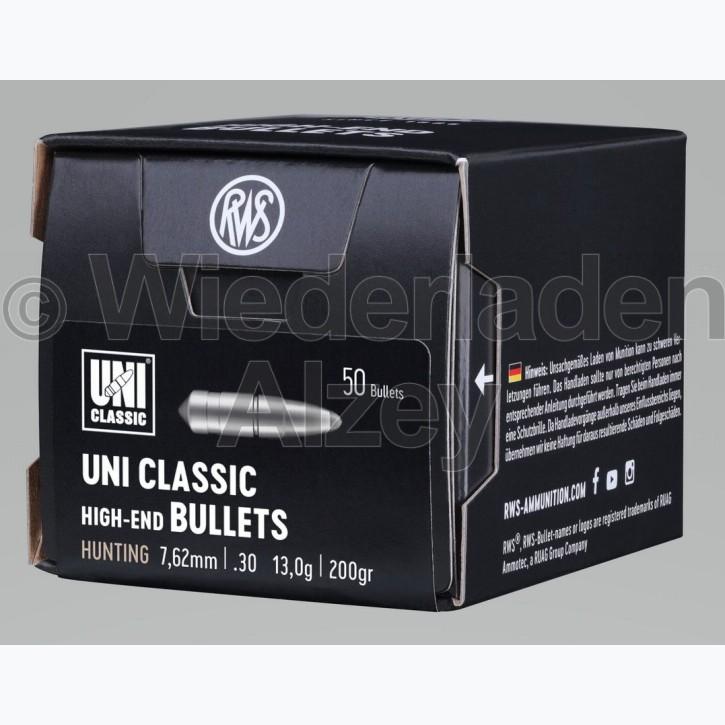 RWS Geschosse, .308, 200 grain, 13,0 g, UNI-Classic