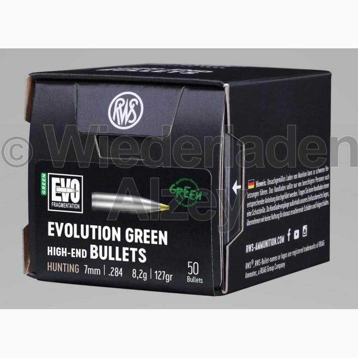 RWS Geschosse, .284, 127 grain bzw. 8,2 g, EVO Green