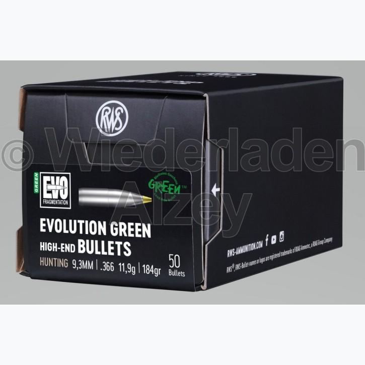 RWS Geschosse, .366, 184 grain bzw. 11,9 g, EVO Green