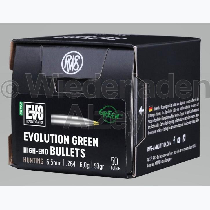 RWS Geschosse, .264, 93 grain bzw. 6,0 g, EVO Green