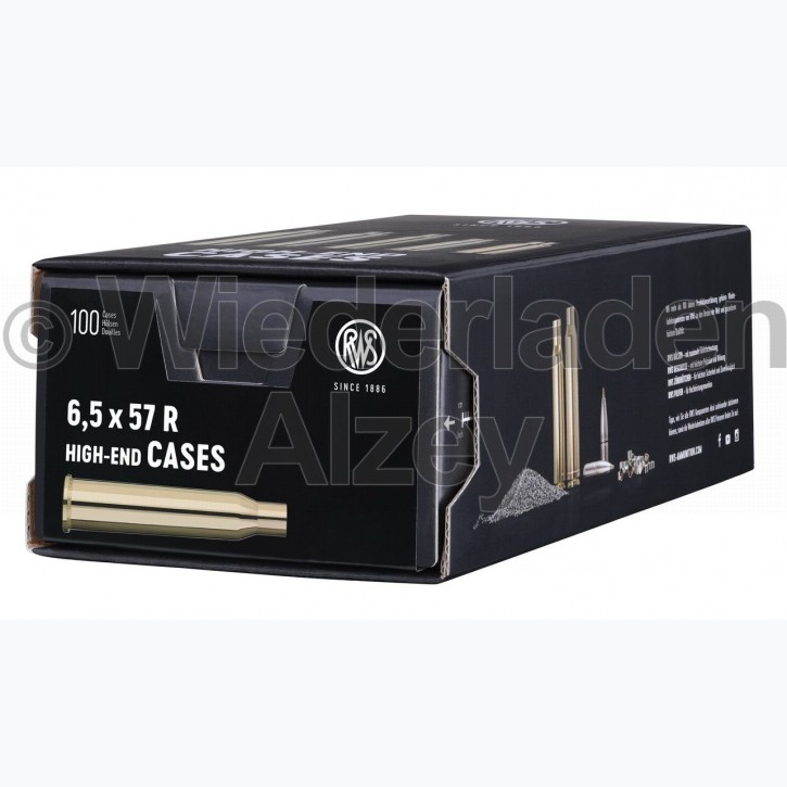 6,5 x 57 R RWS Hülsen, neutrale Verpackung