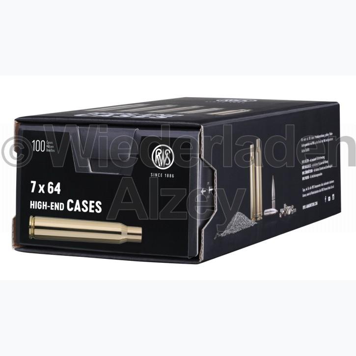 7 x 64 RWS Hülsen, neutrale Verpackung