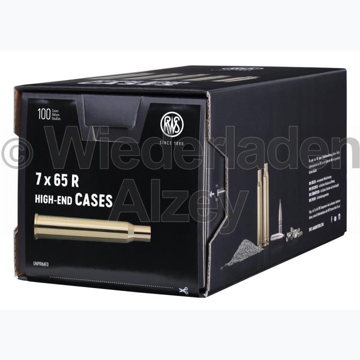 7 x 65 R RWS Hülsen, neutrale Verpackung