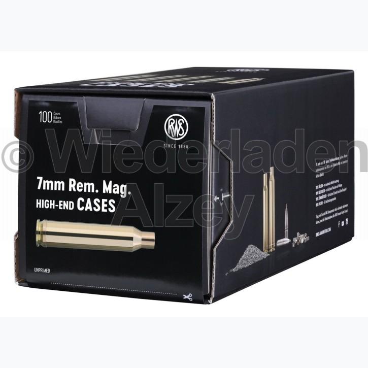 7 mm Rem. Mag. RWS Hülsen, neutrale Verpackung