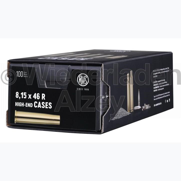 8,15 x 46 R RWS Hülsen, neutrale Verpackung