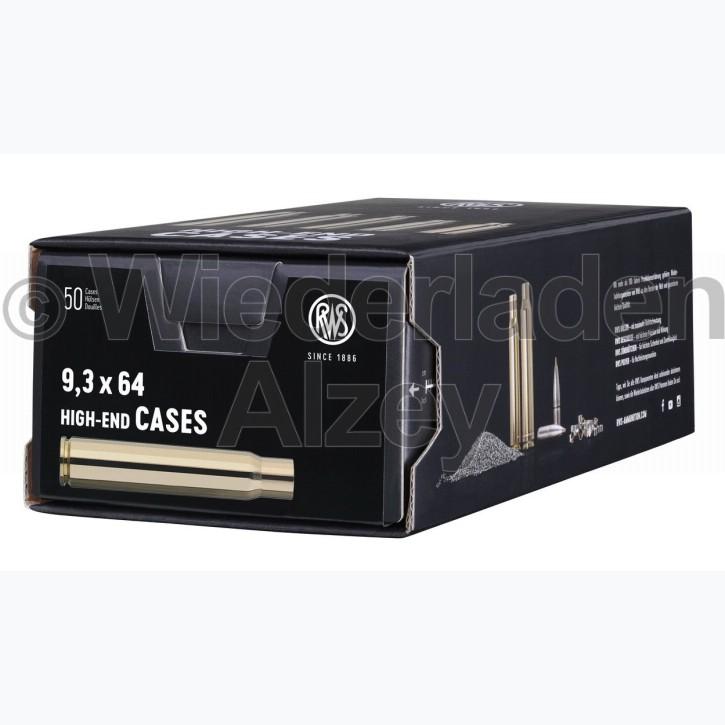 9,3 x 64 RWS Hülsen, neutrale Verpackung