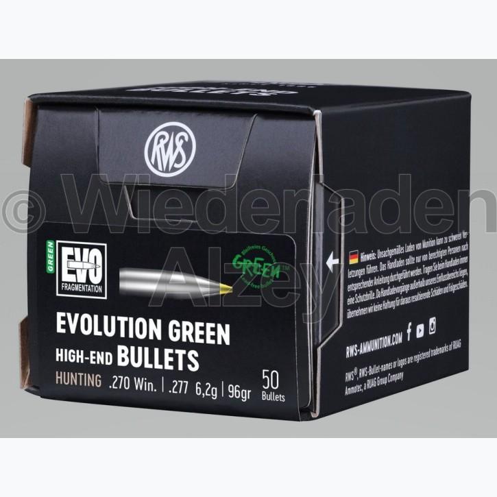 RWS Geschosse, .277, 96 grain, 6,2 g, EVO Green