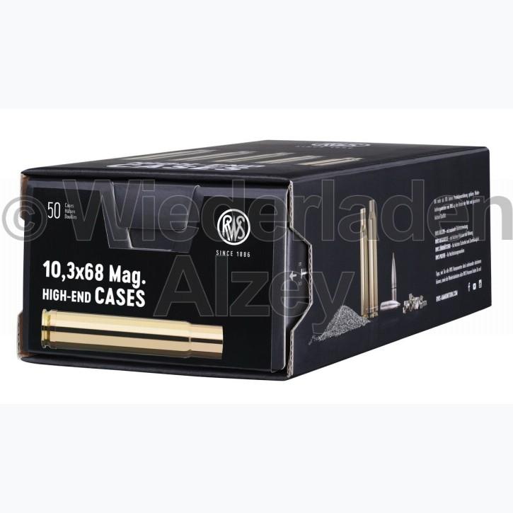 10,3 x 68 Mag. RWS Hülsen, neutrale Verpackung