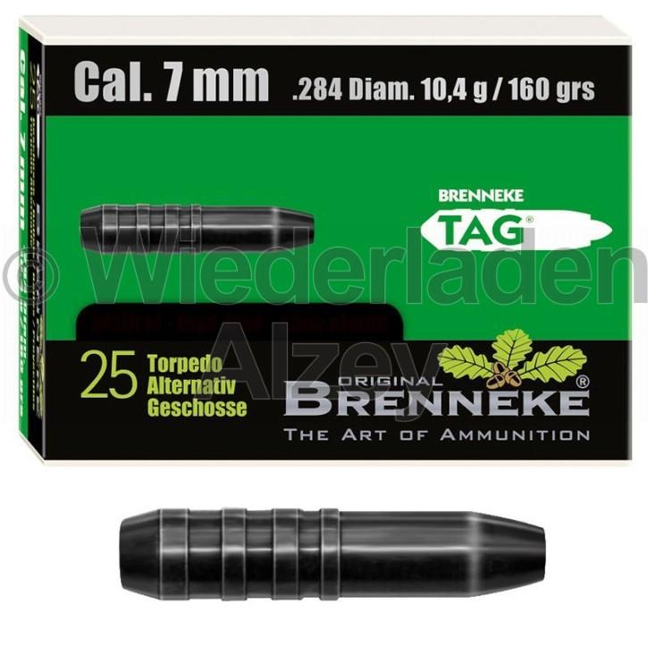 7 mm, 10,4 Gramm bzw. 160 grain, Brenneke Geschosse, TAG (Torpedo-Alternativ Geschoss), bleifrei, Art.-Nr.: 49389000