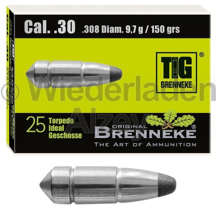 .30, 9,7 Gramm bzw. 150 grain, Brenneke Geschosse, TIG (Torpedo-Ideal Geschoss), Art.-Nr.: 49401000