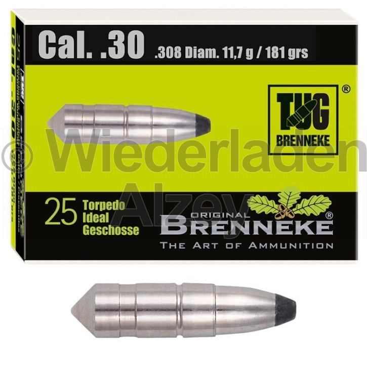 .30, 11,7 Gramm bzw. 181 grain, Brenneke Geschosse, TUG (Torpedo-Universal Geschoss), Art.-Nr.: 49405000