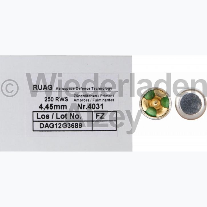 RWS, Small Pistol SINOXID Boxerzündhütchen, Nr. 4031