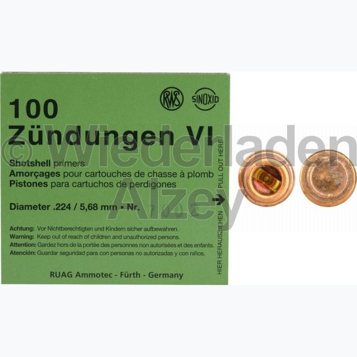 RWS, SINOXID Zündhütchen für Schrotpatronen, Nr. 7002