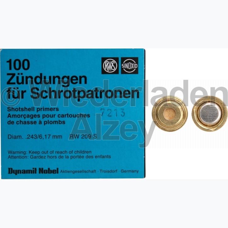 RWS, SINOXID Zündhütchen für Schrotpatronen, Medium, Nr. 7213