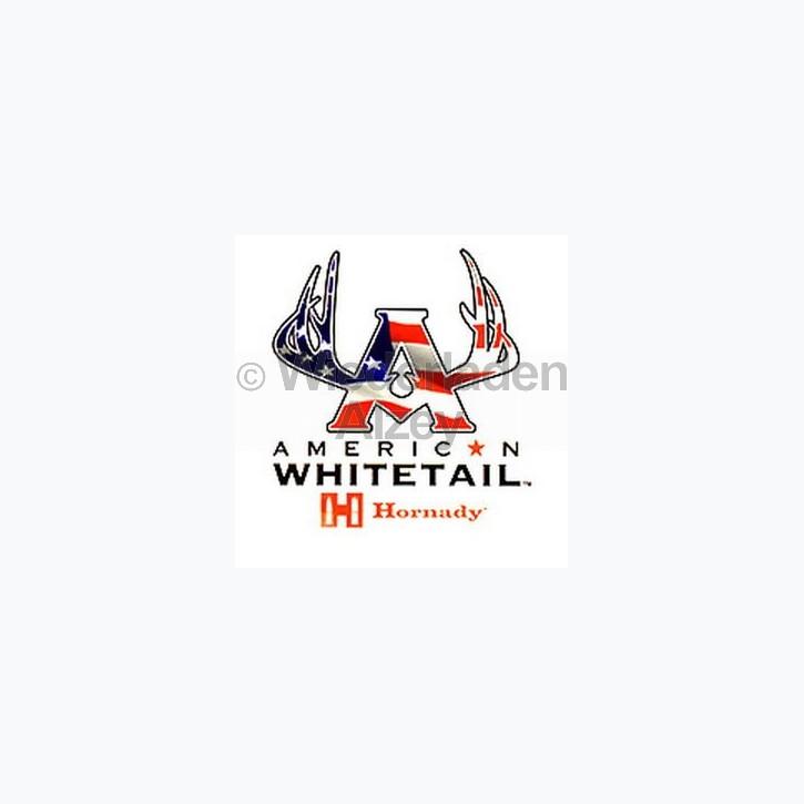 "Hornady Aufkleber ""American Whitetail"", Größe ca. 12 x 12 cm, Art.-Nr.: 98009"