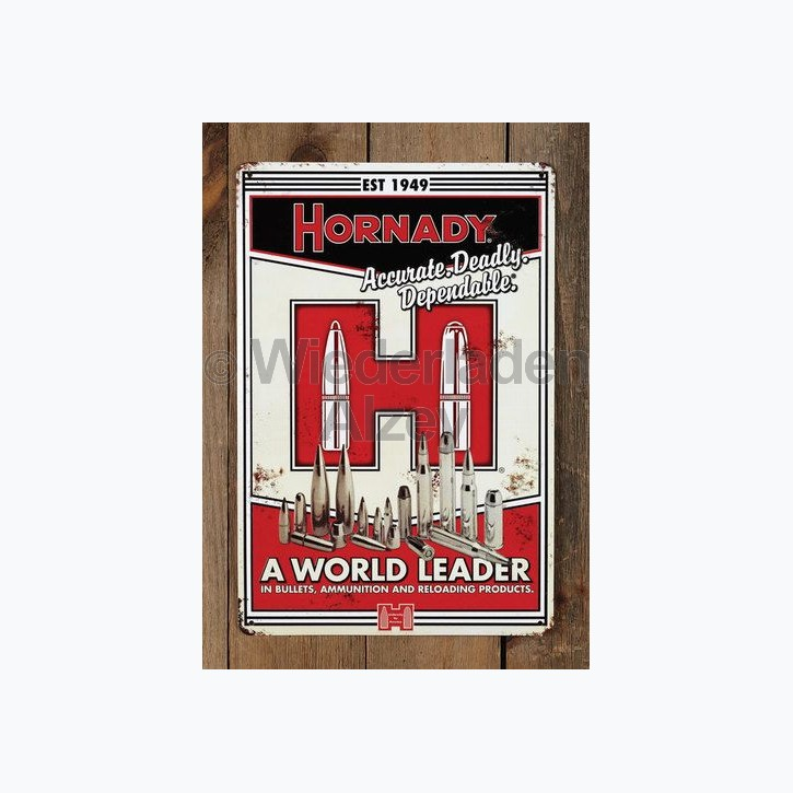 Hornady Nostalgie-Blechschild, Größe ca. 45 x 30 cm, Art.-Nr.: 99101