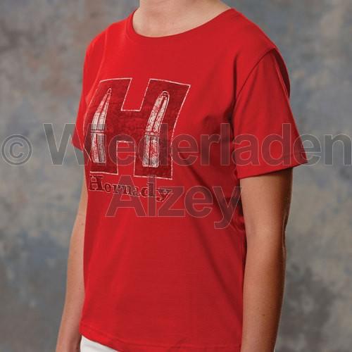 Hornady T-Shirt Youth Red, Größe M, Art.-Nr.: 99592M