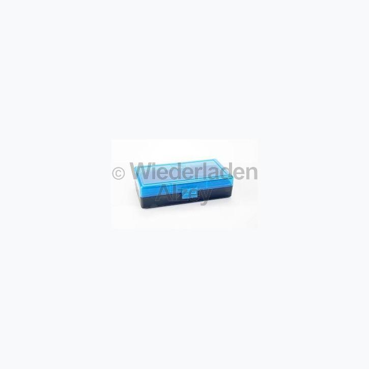 50er Dillon Patronenbox, Klappdeckel, klar-blau, .40 / .45 ACP, Art.-Nr.: 80024