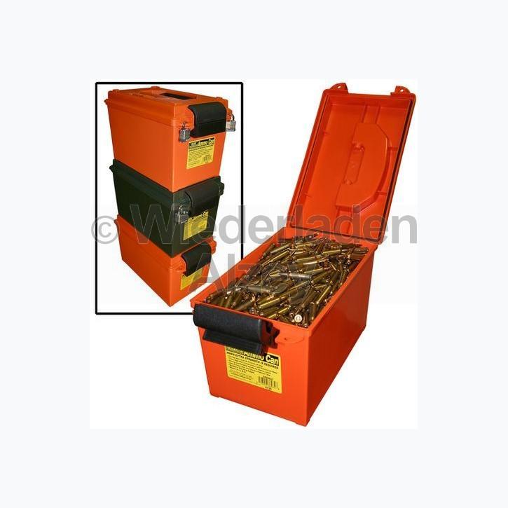 MTM, rutschfest und stapelbare Munitionsbox, ideal auch zur Lagerung von Munition in feuchten Räumen, Größe 22 x 39 x 23 cm, Grün, O-Ring gedichtet, Art.-Nr.: AC11