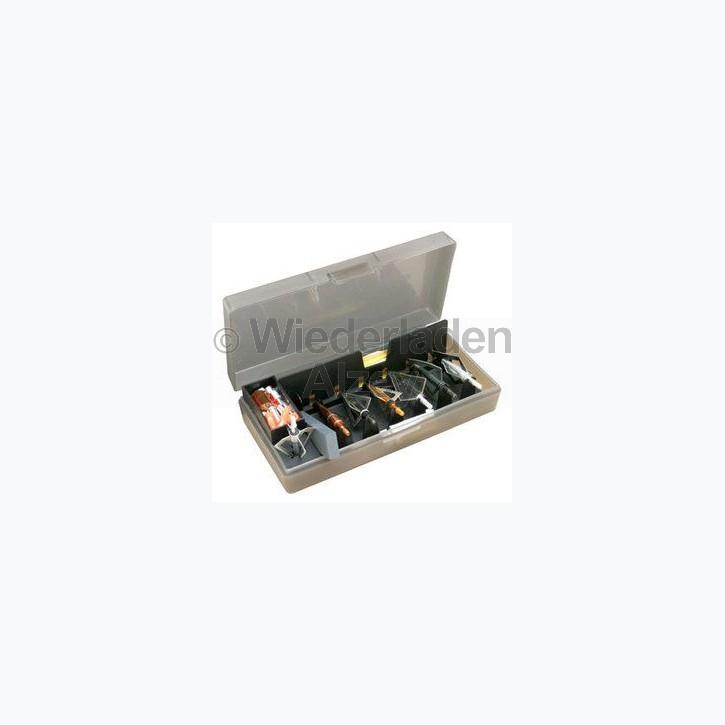 MTM, Aufbewahrungsbox für Pfeil- und Bogenzubehör, mit herausnehmbaren Einsatz, Größe ca. 21 x 11 x 5 cm, Farbe rauch-klar, Art.-Nr.: BH-1-41