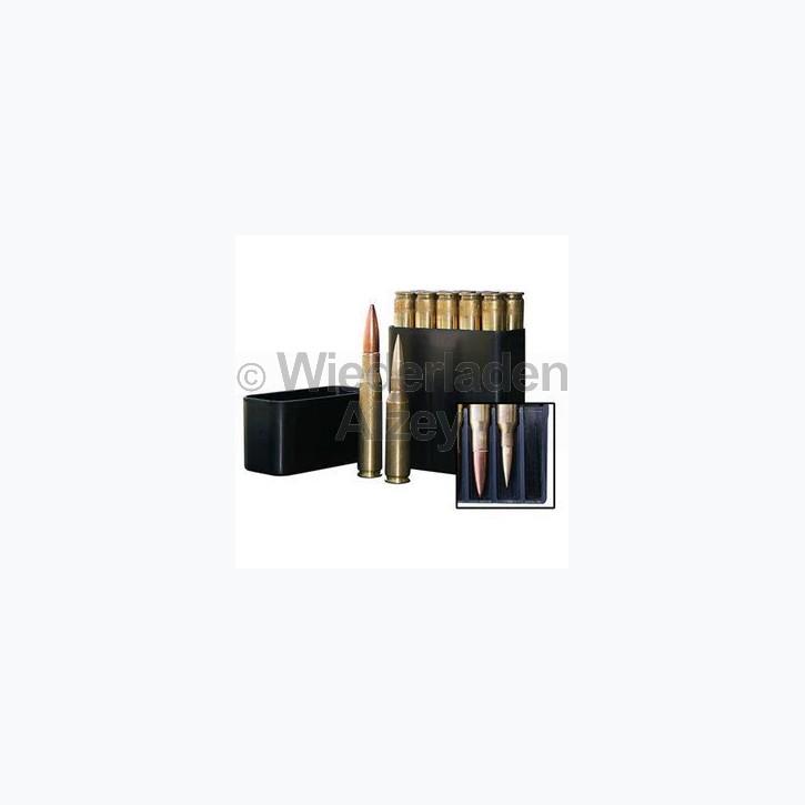 10er MTM Patronenbox, Stülpdeckel, für .50 BMG, .460 Steyr, ..., Frabe schwarz, Art.-Nr.: BMG-10-40