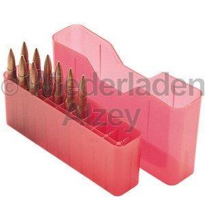 20er MTM Patronenbox, Stülpdeckel, rot, Größe RMLD, für .45-70, .30-40 Krag, .300 WSM, ...