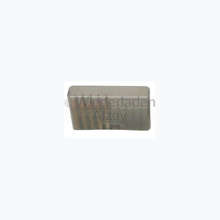 20er MTM Patronenbox, Stülpdeckel, rauch-klar, Größe RMLD, für .45-70, .30-40 Krag, .300 WSM, ...