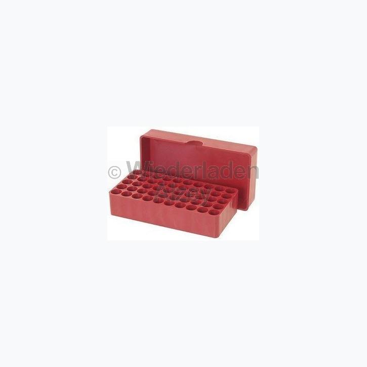 50er MTM Patronenbox, Stülpdeckel, rot, für .38 / .357 Mag. / .....