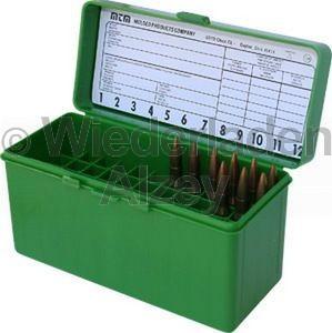 60er MTM Patronenbox mit Klappeckel, grün, Größe RL, für .25-06 / .270 Win., ..., Art.-Nr.: RL-60-10