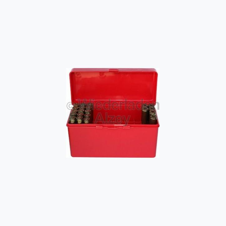 60er MTM Patronenbox mit Klappeckel, rot, Größe RL, für .25-06 / .270 Win., ..., Art.-Nr.: RL-60-30