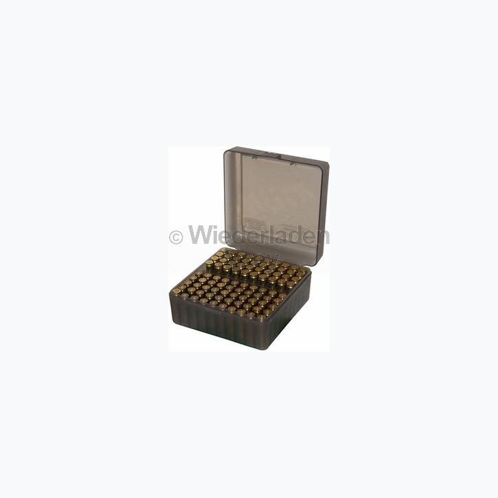 100er MTM Patronenbox, rauch-klar, Größe RS für .17 / .222 / .223 ..., Art.-Nr.: RS-100-41