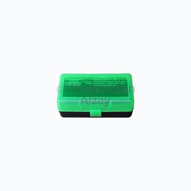 50er MTM Patronenbox, grün / schwarz, Größe RSS für .22 ..., Art.-Nr.: RSS-50-16T