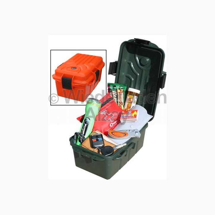 MTM, wasser- und witterungsbeständige Transportbox, Größe 28 x 18 x 8 cm, Grün, mit Kompass, O-Ring gedichtet, Art.-Nr.: S107211