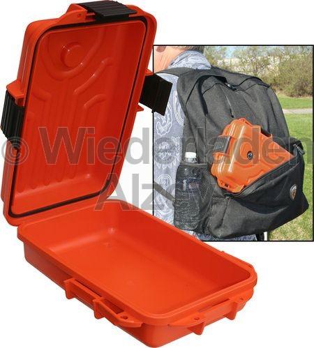 MTM, wasser- und witterungsbeständige Transportbox, Größe 28 x 18 x 8 cm, Orange, mit Kompass, O-Ring gedichtet, Art.-Nr.: S107235