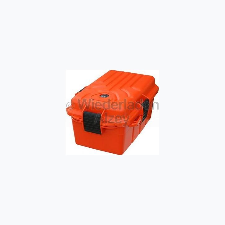 MTM, wasser- und witterungsbeständige Transportbox, Größe 25 x 17 x 12 cm, Orange, mit Kompass, O-Ring gedichtet, Art.-Nr.: S1074-35
