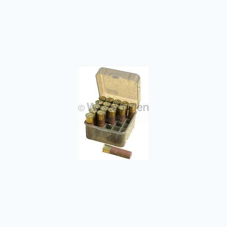 25er MTM Schrotpatronenbox mit Klappdeckel, rauch-klar, Art.-Nr.: S25D-12M41