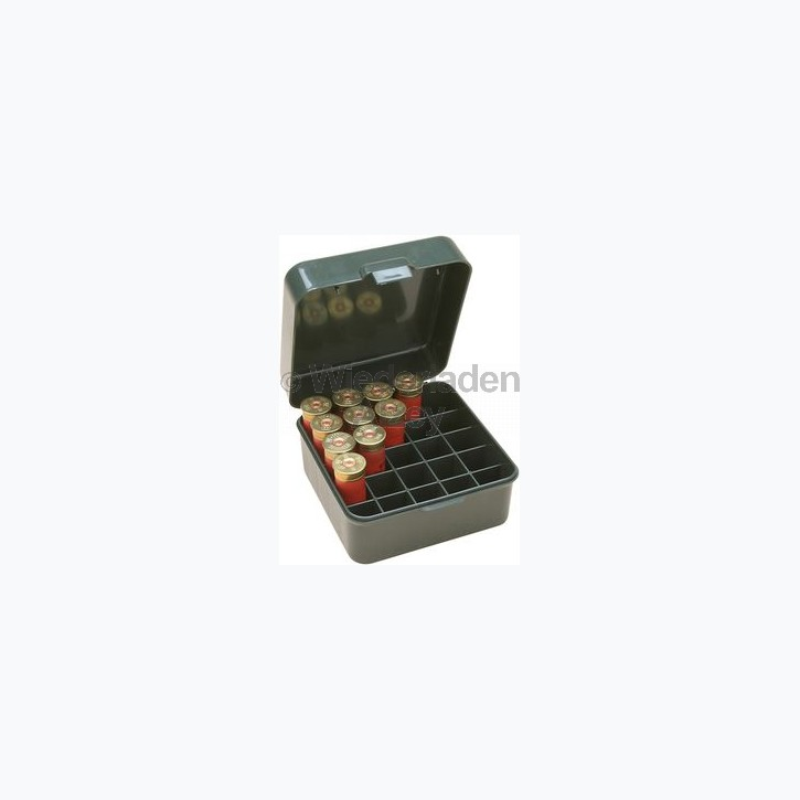 25er MTM Schrotpatronenbox mit Klappdeckel, rauch-klar, Art.-Nr.: S25D-41