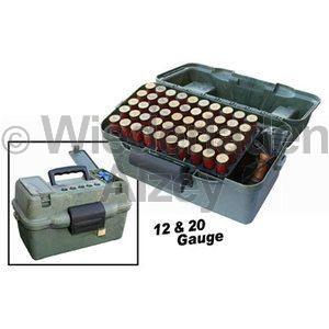 MTM, Schrotpatronenbox für 100 Patronen .12 oder .20, Camo, Art.-Nr.: SF100D-09