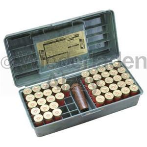 MTM, Schrotpatronenbox für 50 Patronen .12, Camo, Art.-Nr.: SF-50-12-09